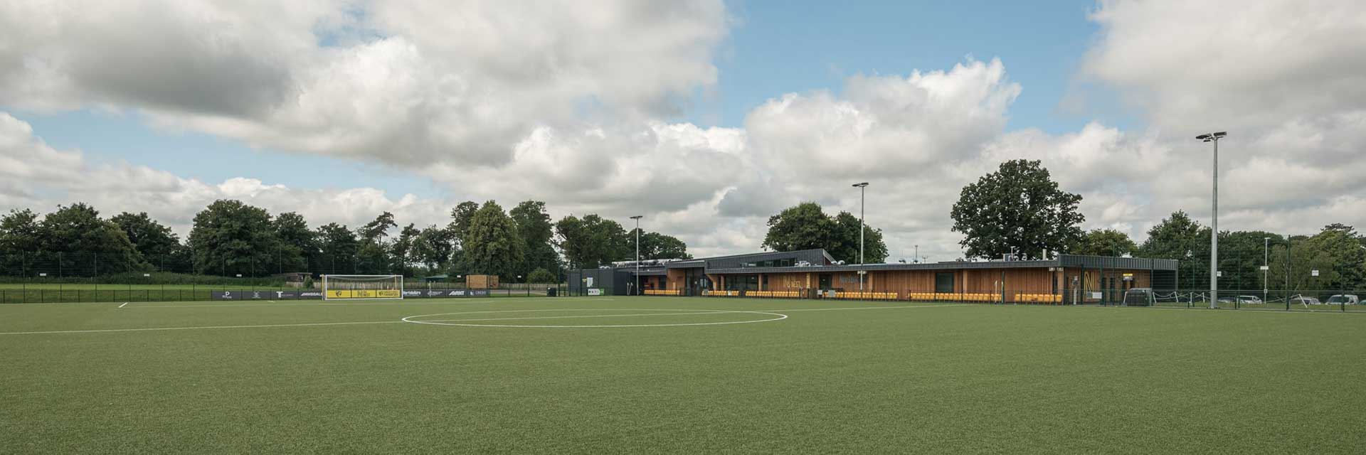 The Nest Hub building from the 3G pitch
